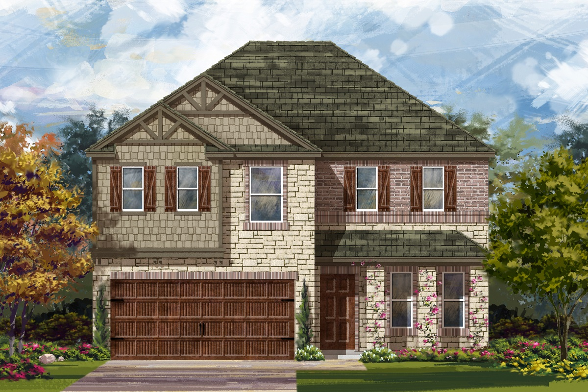 New Homes in Uhland, TX - Highlands at Grist Mill Plan 2898 Elevation J