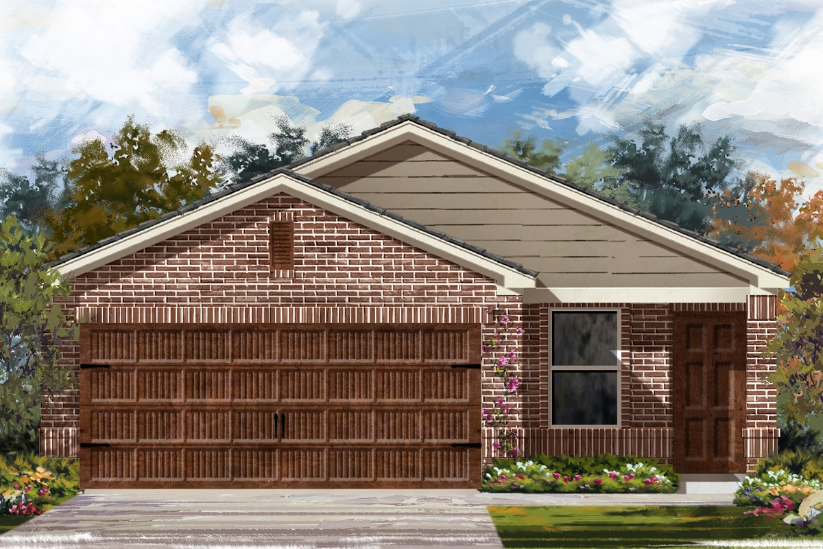 New Homes in Uhland, TX - Highlands at Grist Mill Plan 1353 Elevation I