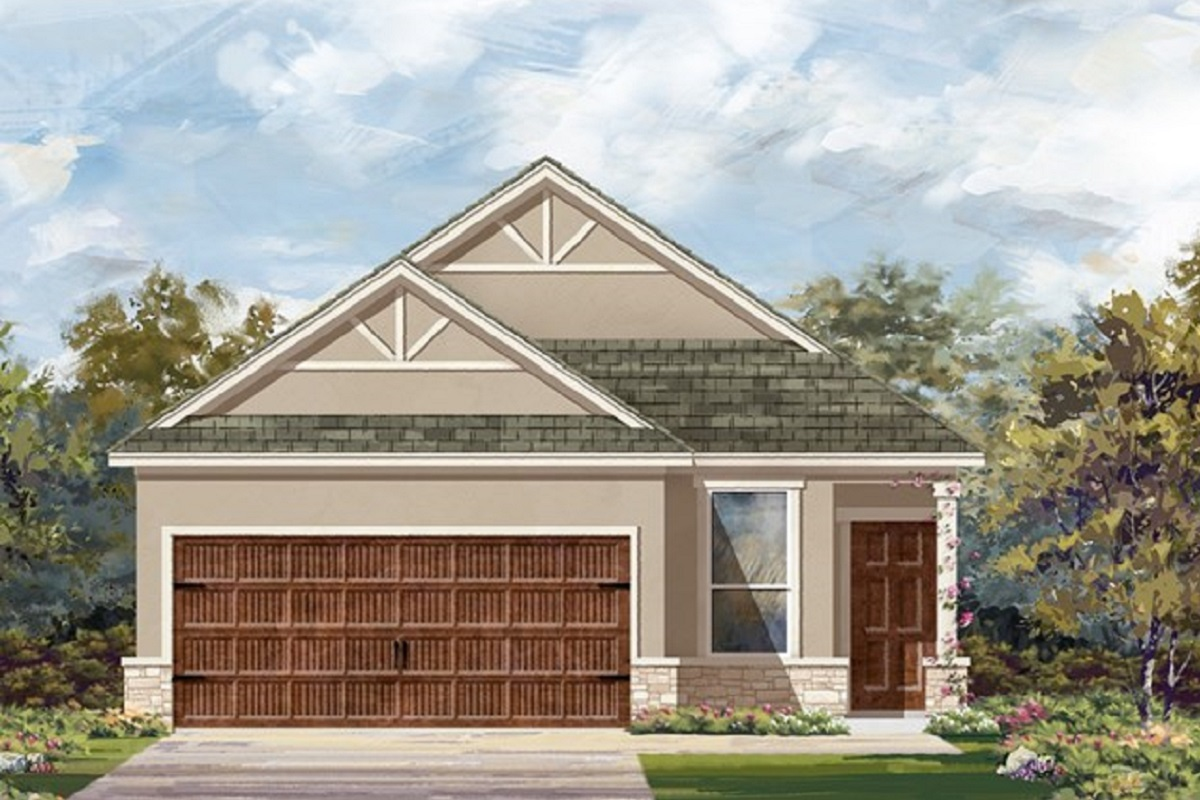 New Homes in Uhland, TX - Highlands at Grist Mill Plan 1353 Elevation J