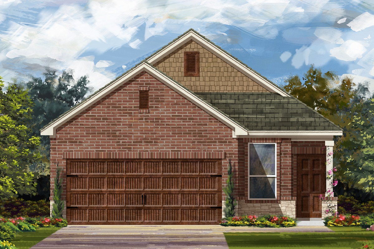 New Homes in Uhland, TX - Highlands at Grist Mill Plan 1353 Elevation K