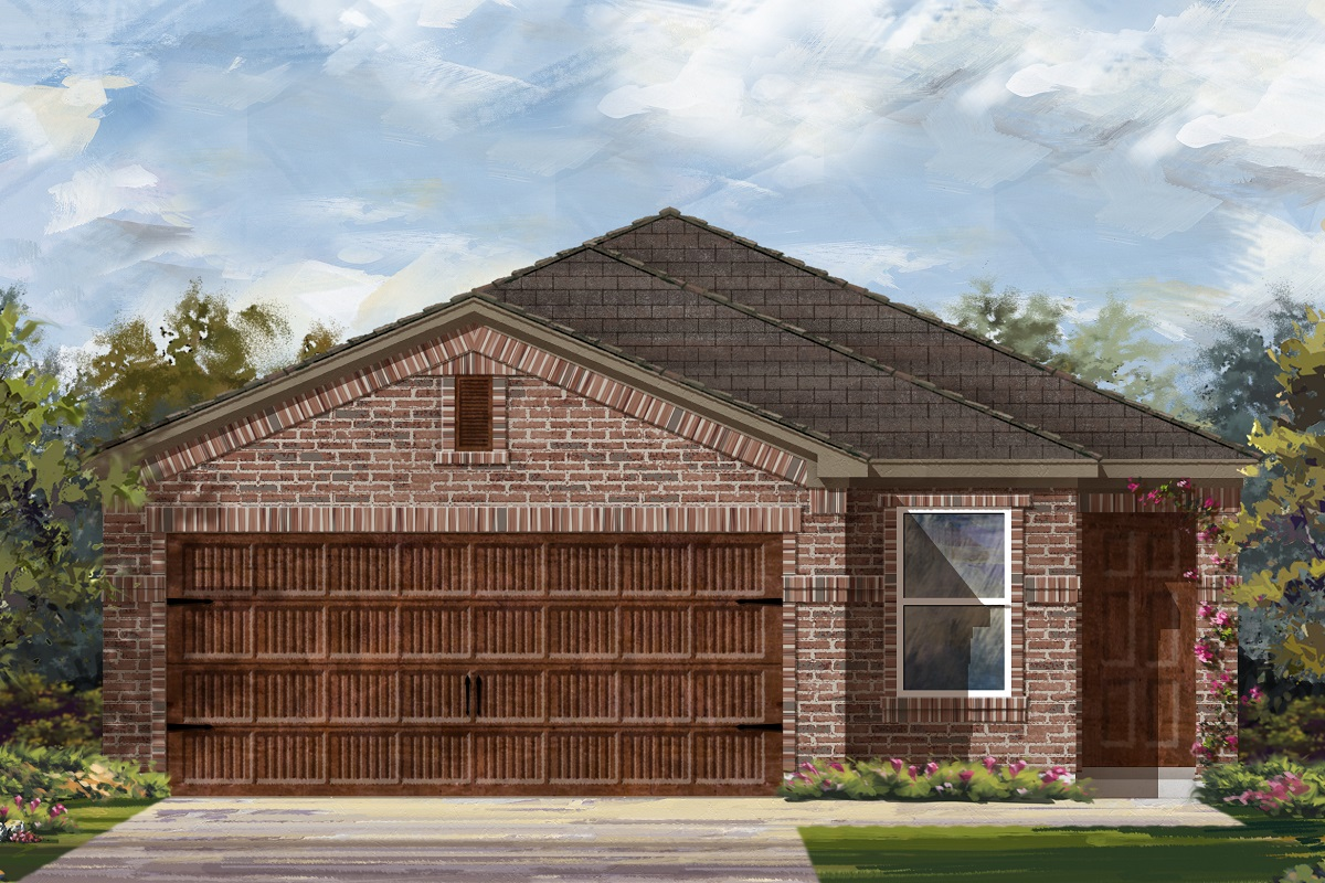 New Homes in Uhland, TX - Highlands at Grist Mill Plan 1585 Elevation I