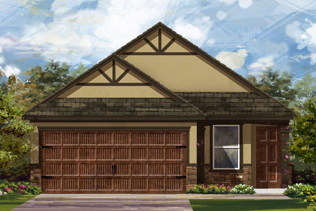 New Homes in Uhland, TX - Highlands at Grist Mill Plan 1585 Elevation J