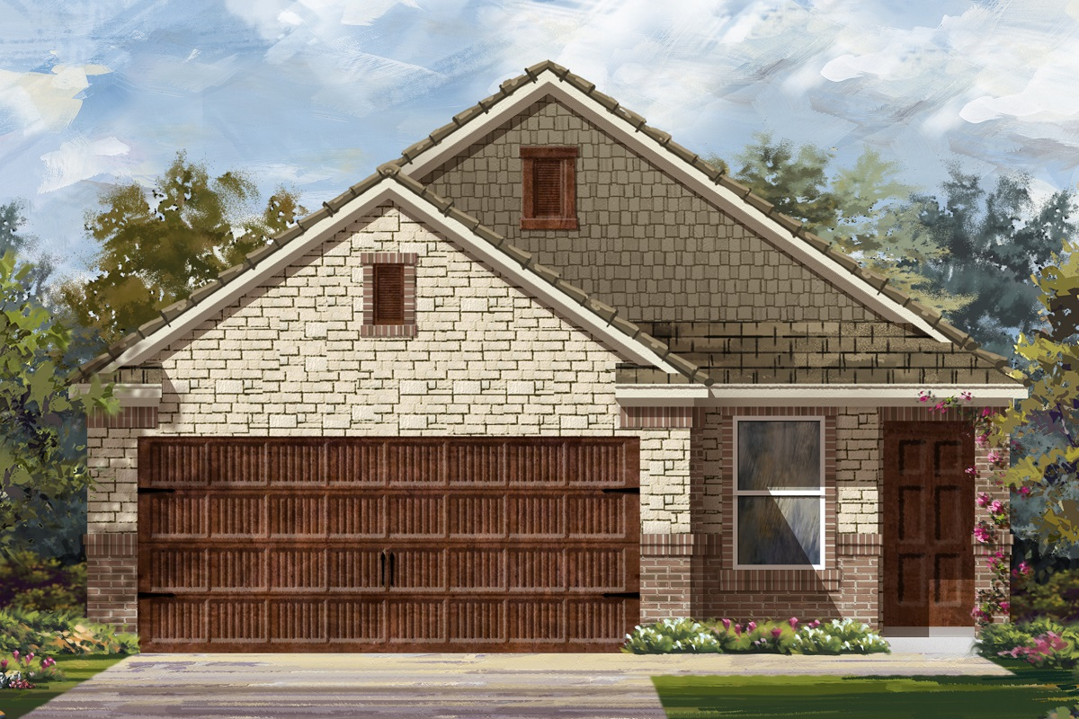 New Homes in Uhland, TX - Highlands at Grist Mill Plan 1585 Elevation K
