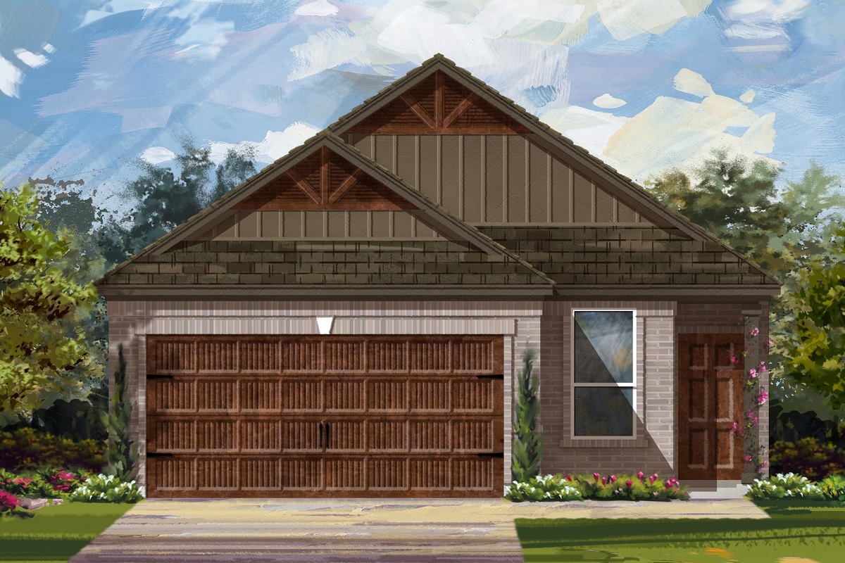 New Homes in Uhland, TX - Highlands at Grist Mill Plan 1585 Elevation L