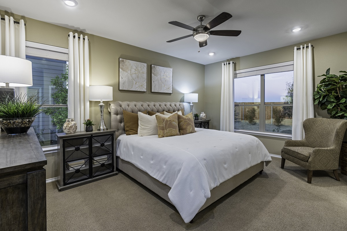 New Homes in Uhland, TX - Highlands at Grist Mill Plan 1647 Master Bedroom