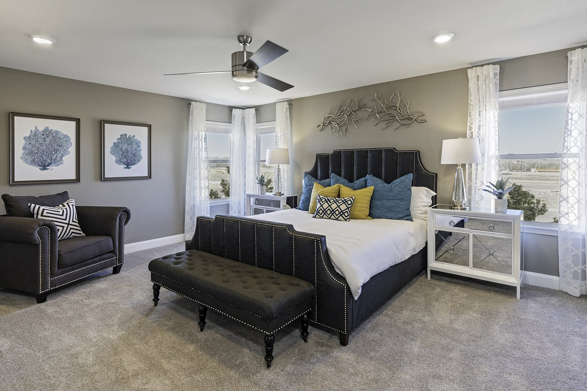 New Homes in Uhland, TX - Highlands at Grist Mill Plan 2708 Master Bedroom