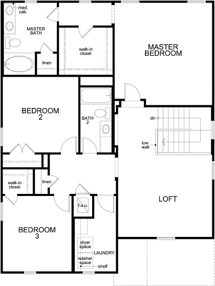 New Homes in Uhland, TX - Plan 2403, Second Floor