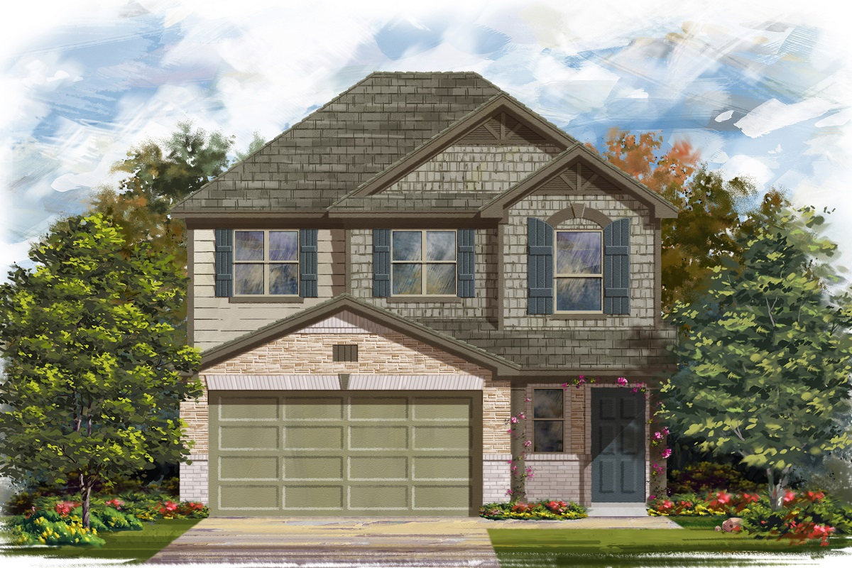 New Homes in Georgetown, TX - La Conterra - Heritage Collection Plan 1601 Elevation K