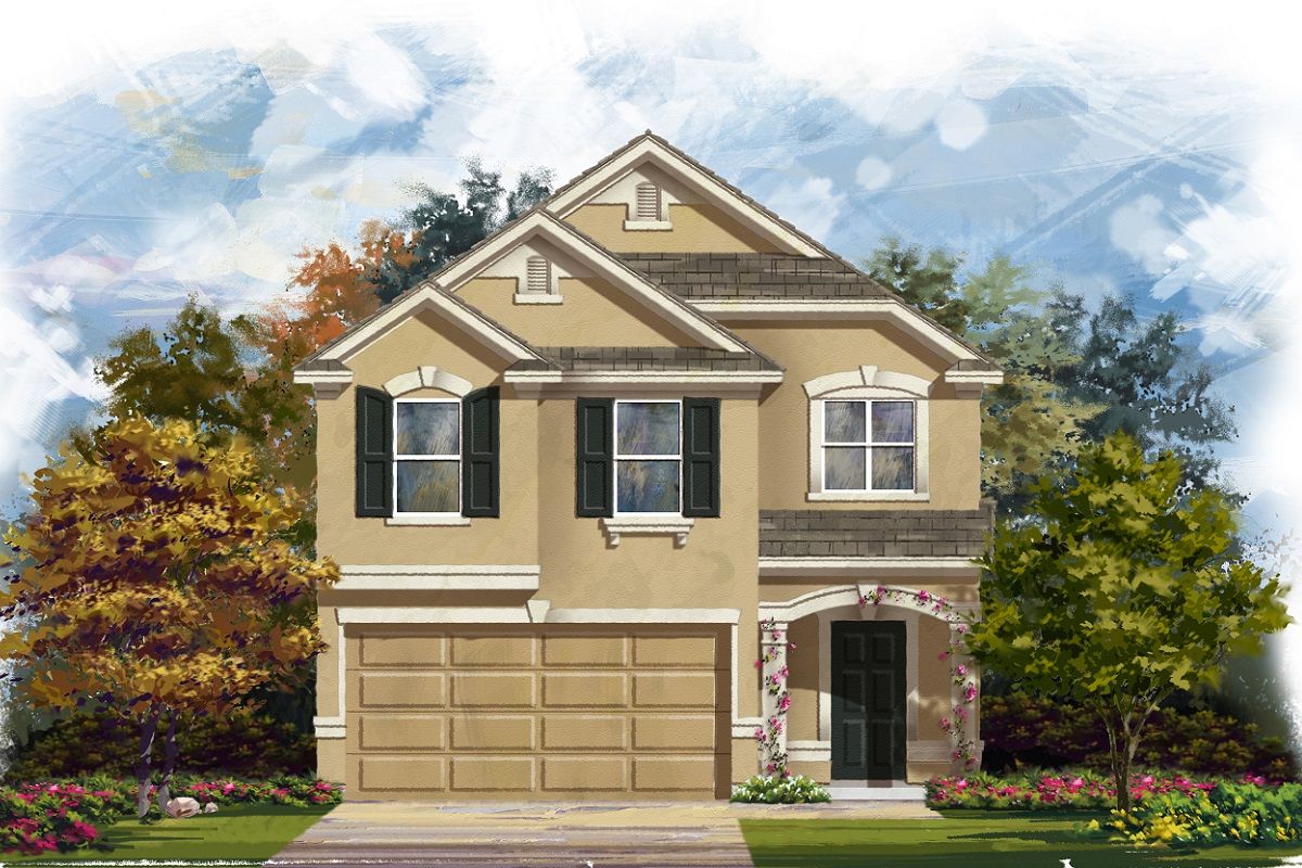 New Homes in Georgetown, TX - La Conterra - Heritage Collection Plan 1909 Elevation J