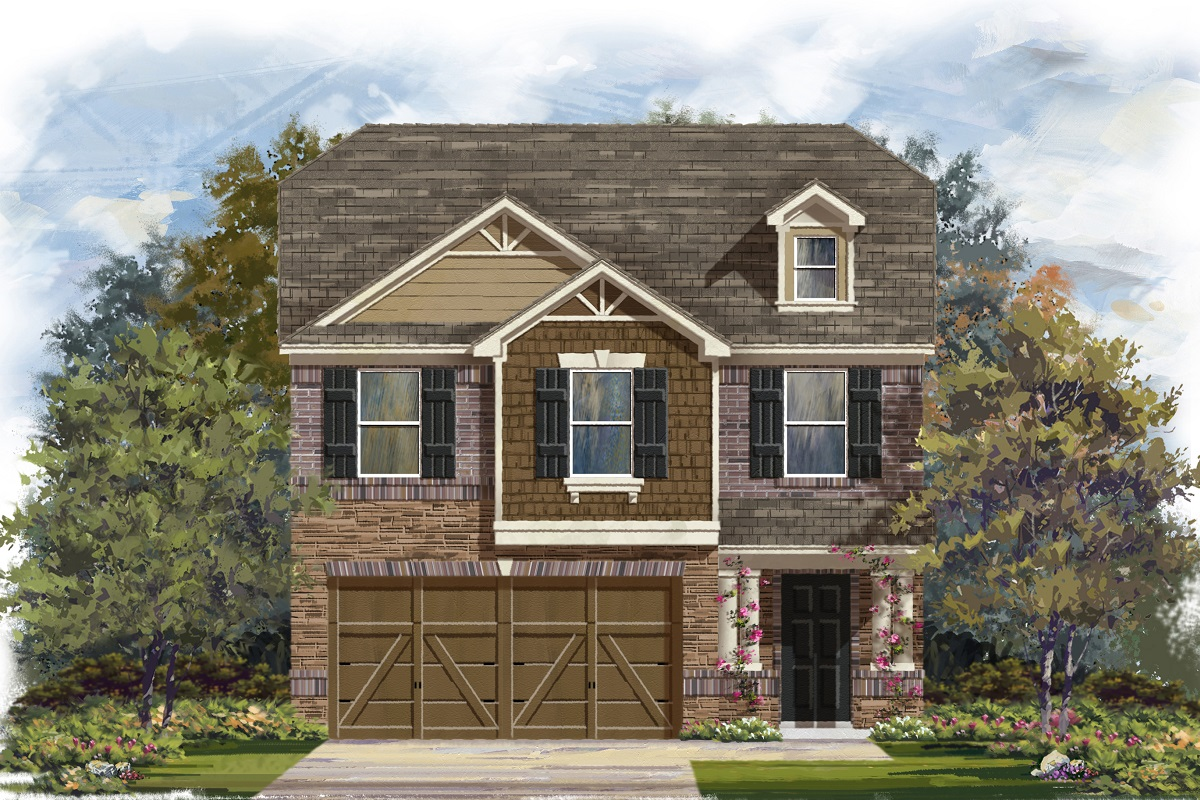 New Homes in Georgetown, TX - La Conterra - Heritage Collection Plan 1909 Elevation K