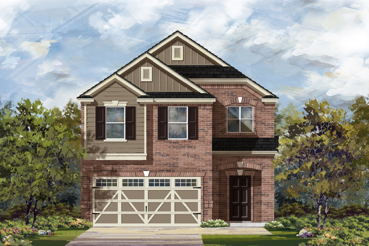 New Homes in Georgetown, TX - La Conterra - Heritage Collection Plan 1909 Elevation L
