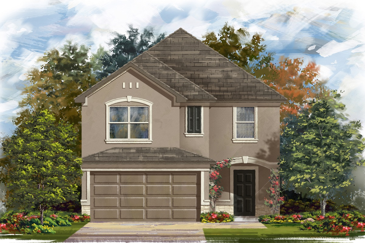 New Homes in Georgetown, TX - La Conterra - Heritage Collection Plan 2038 Elevation J