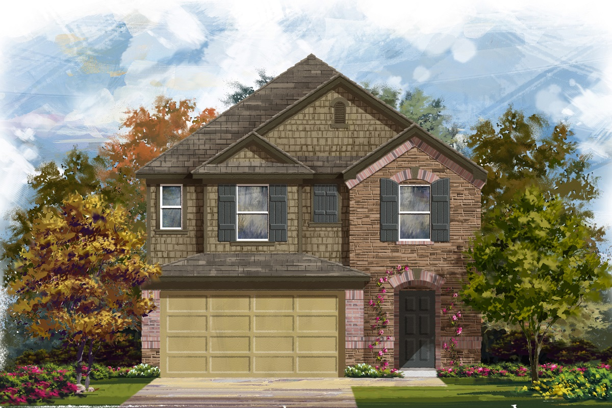 New Homes in Georgetown, TX - La Conterra - Heritage Collection Plan 2038 Elevation K