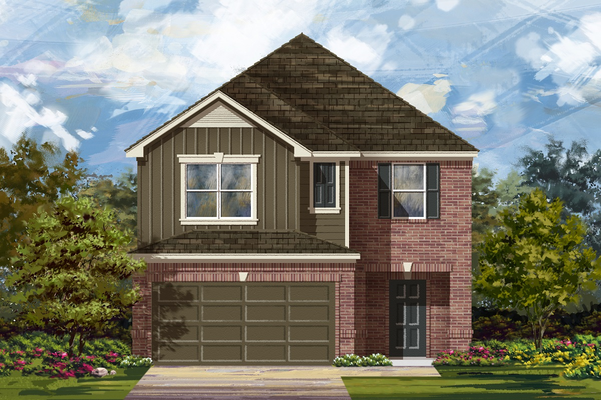 New Homes in Georgetown, TX - La Conterra - Heritage Collection Plan 2038 Elevation L