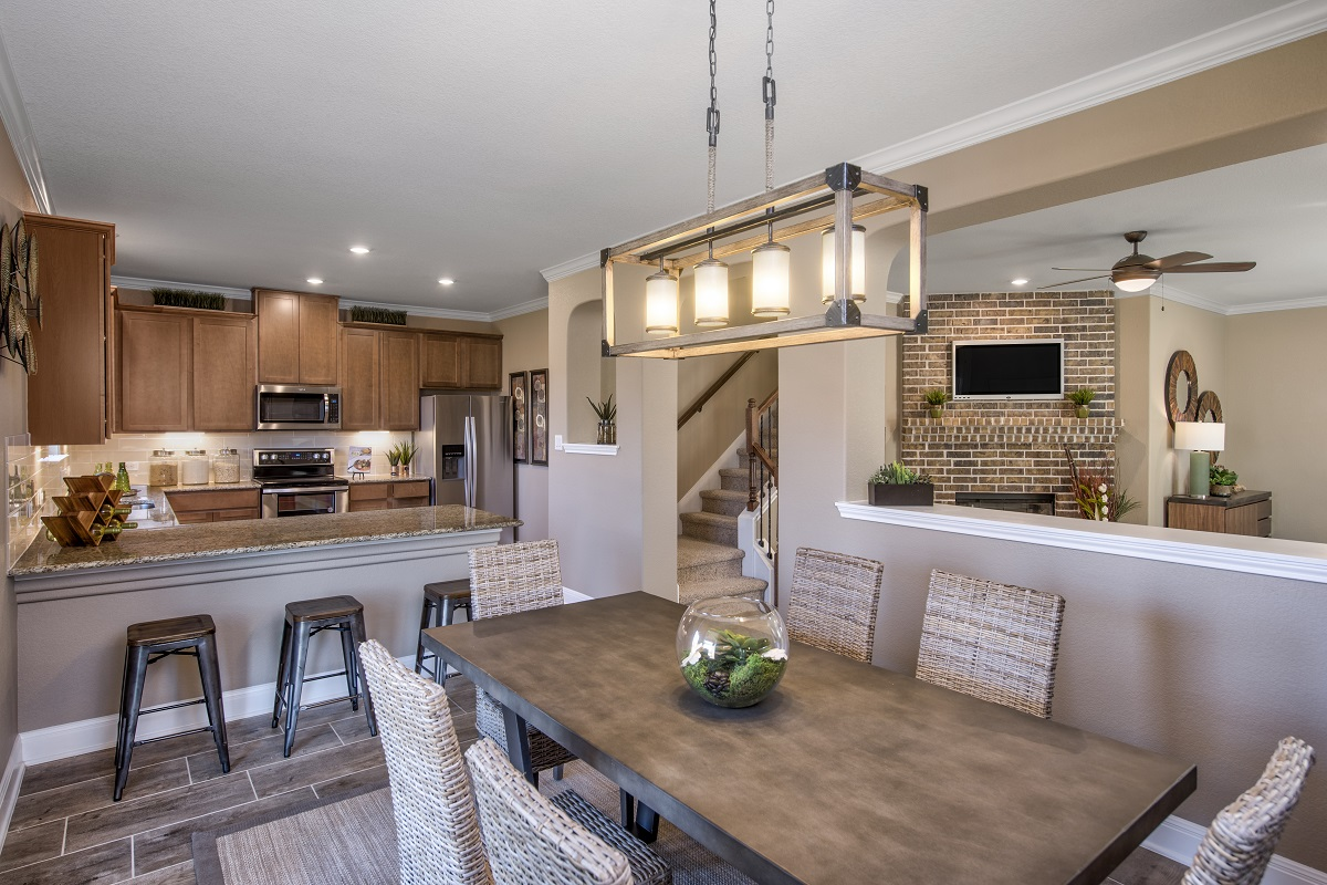 New Homes in Georgetown, TX - La Conterra - Heritage Collection Plan F-2038 Dining Area