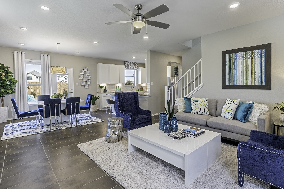 New Homes in Georgetown, TX - La Conterra - Heritage Collection Plan 1909 Great Room