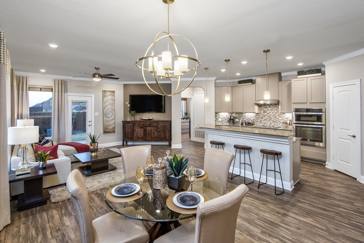 New Homes in Georgetown, TX - La Conterra - Heritage Collection Plan 1694 Great Room