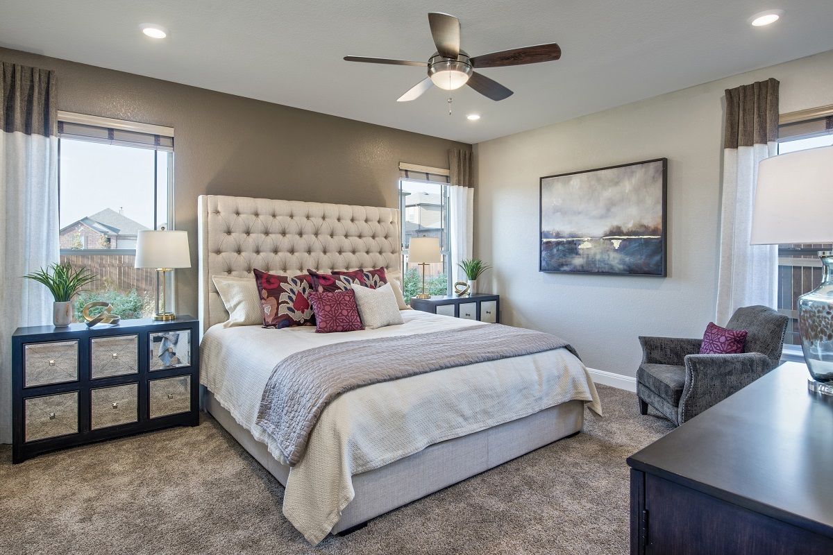 New Homes in Georgetown, TX - La Conterra - Heritage Collection Plan 1694 Master Bedroom