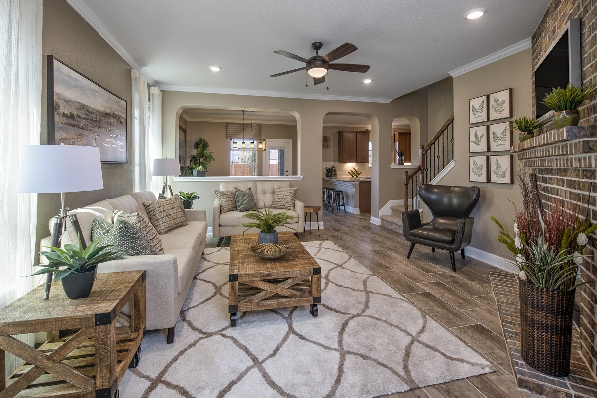 New Homes in Georgetown, TX - La Conterra - Heritage Collection Plan F-2038 Great Room