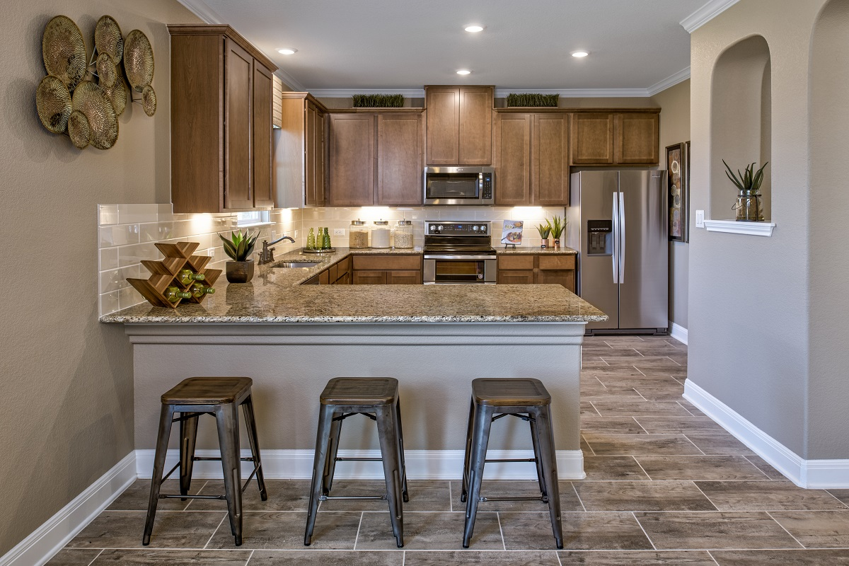 New Homes in Georgetown, TX - La Conterra - Heritage Collection Plan F-2038 Kitchen