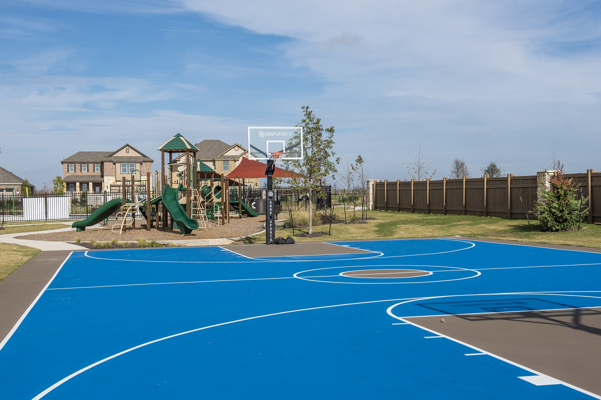 New Homes in Georgetown, TX - La Conterra - Heritage Collection Community Basketball Court