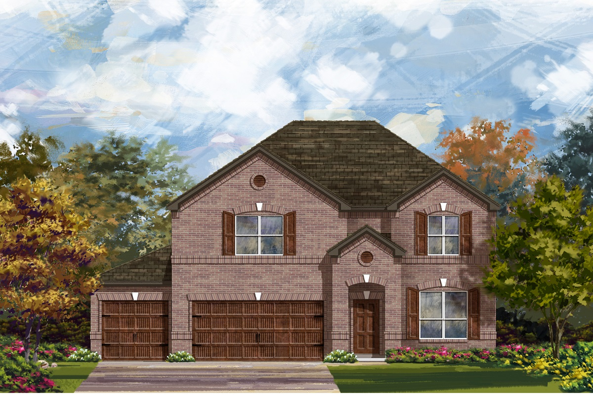 New Homes in Leander, TX - Plan A-2755 A