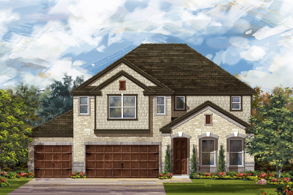 New Homes in Leander, TX - Plan A-3023 C
