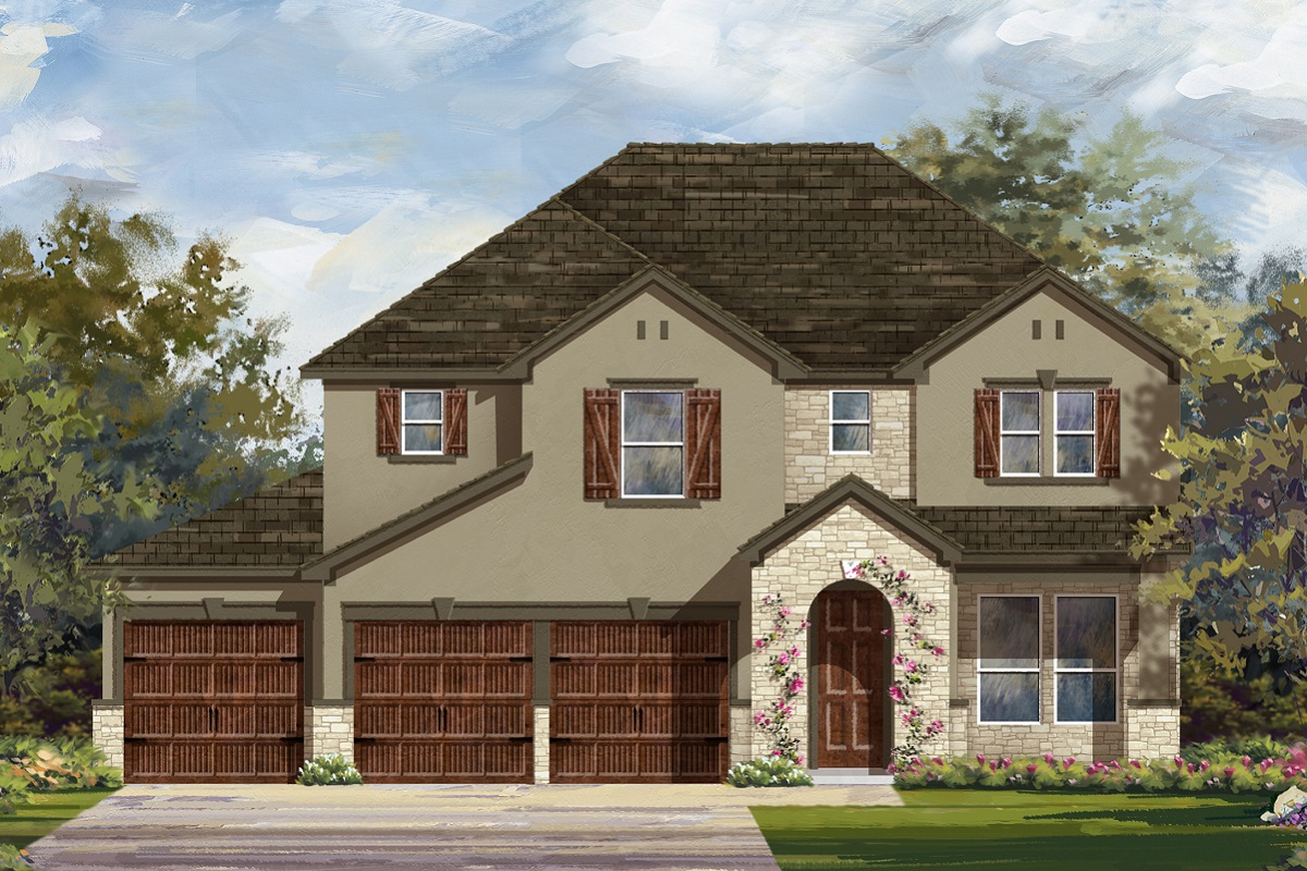 New Homes in Leander, TX - Plan A-2755 D