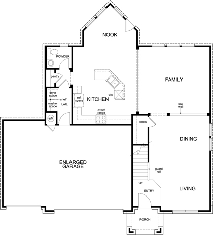 New Homes in Leander, TX - Plan A-2755, First Floor