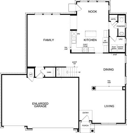 New Homes in Leander, TX - Plan A-3125 Modeled, First Floor