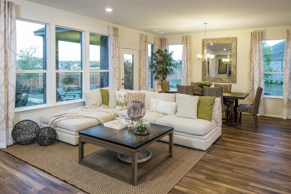 New Homes in Leander, TX - Mason Hills - The Lakes Classic Collection Plan A-1792 Great Room