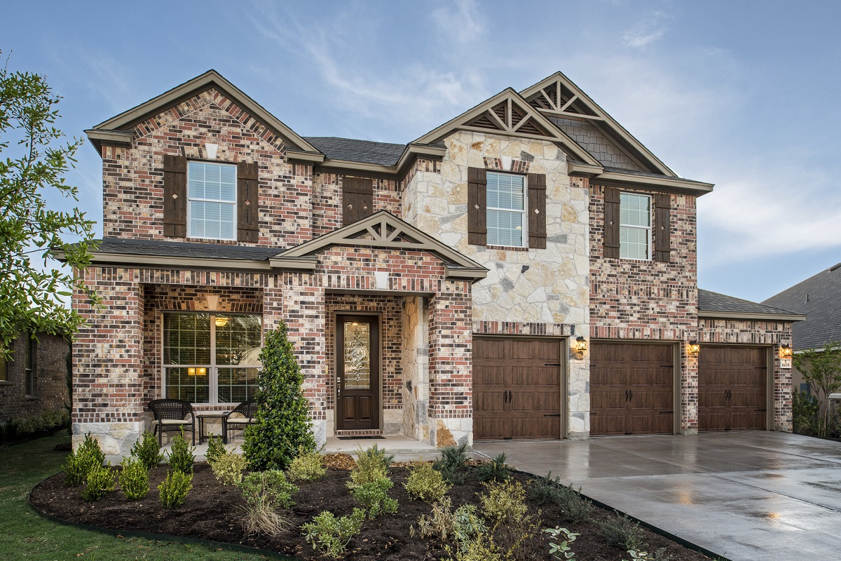 New Homes in Leander, TX - Plan A-3125 Modeled