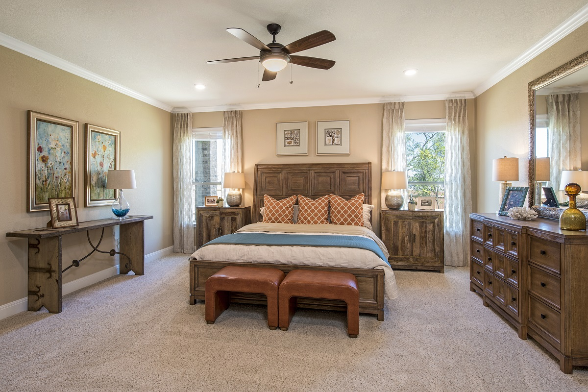 New Homes in Leander, TX - Mason Hills - The Lakes Hallmark Collection Plan L-3471 Master Bedroom