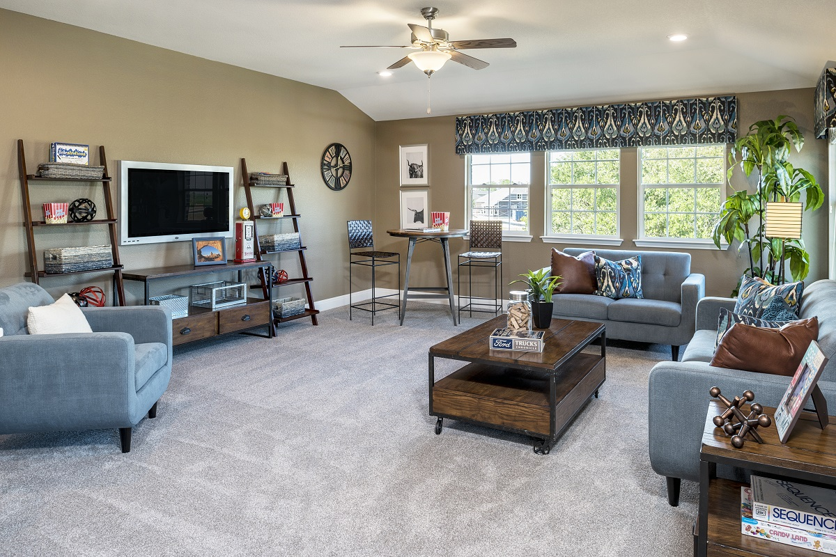 New Homes in Leander, TX - Mason Hills - The Lakes Hallmark Collection Plan A-3125 Game Room