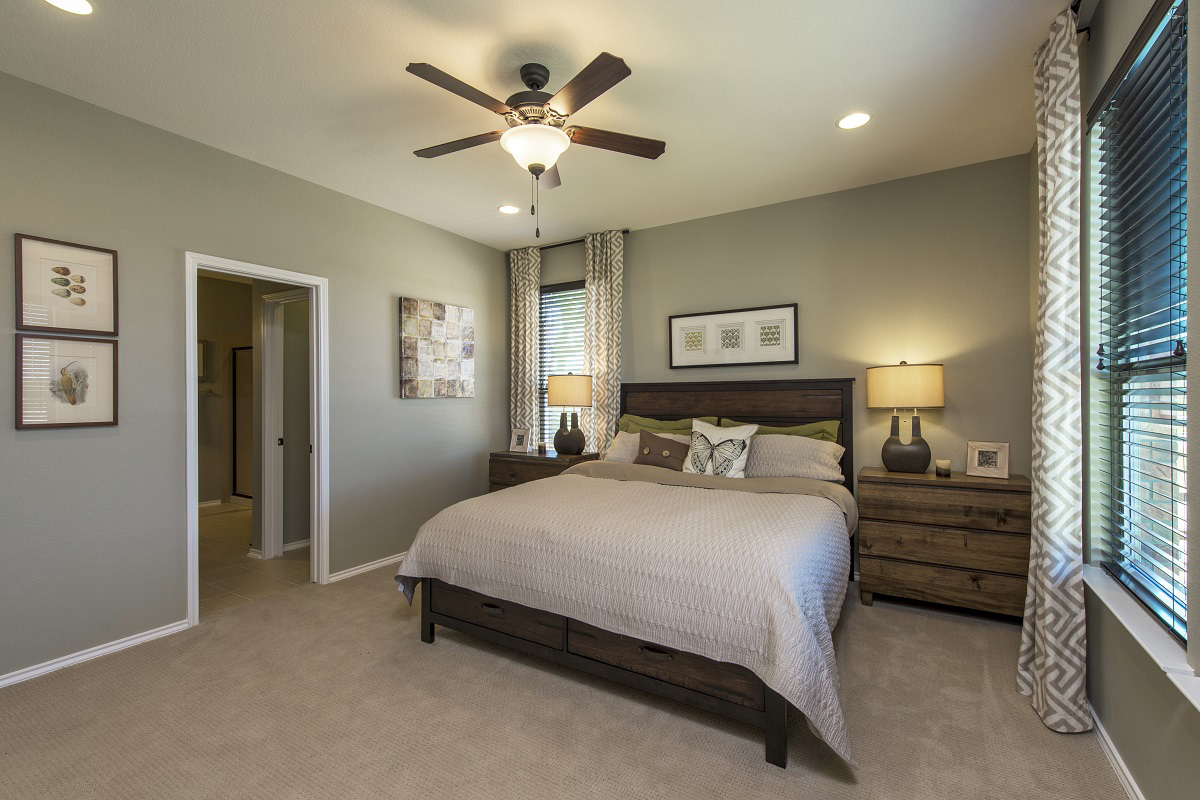 New Homes in Leander, TX - Mason Hills - The Lakes Classic Collection Plan A-1965 Master Bedroom