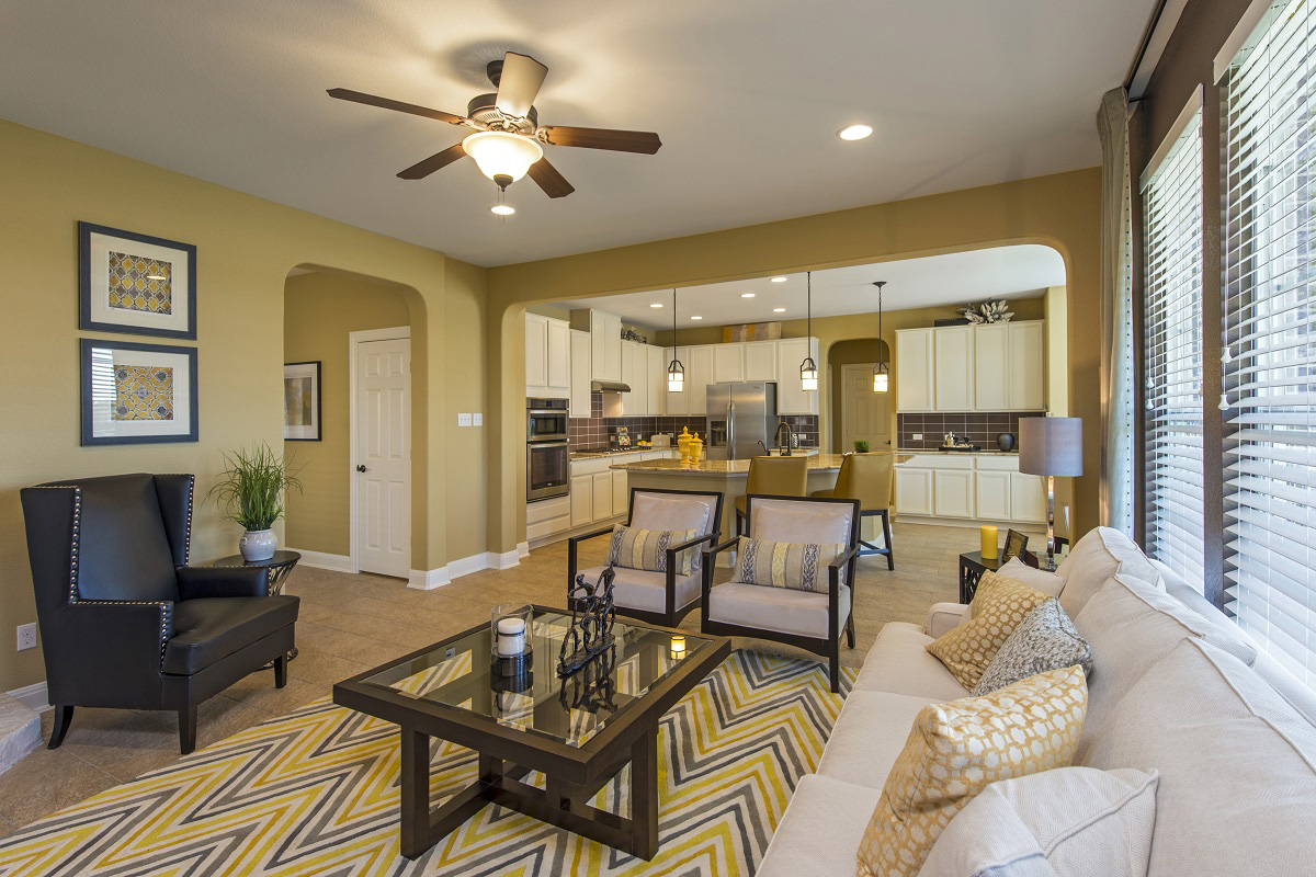 New Homes in Leander, TX - Mason Hills - The Lakes Classic Collection Plan A-2755 Great Room