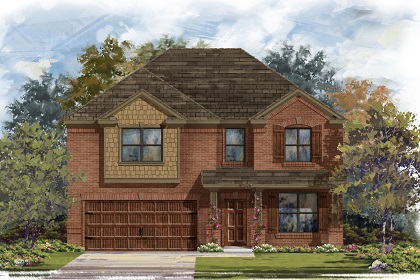 New Homes in Leander, TX - Plan A-2755 Elevation B