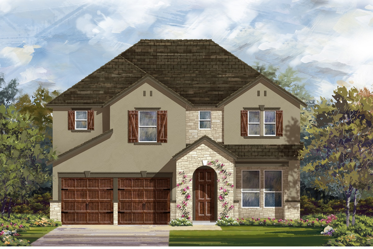 New Homes in Leander, TX - Plan A-2755 Elevation D
