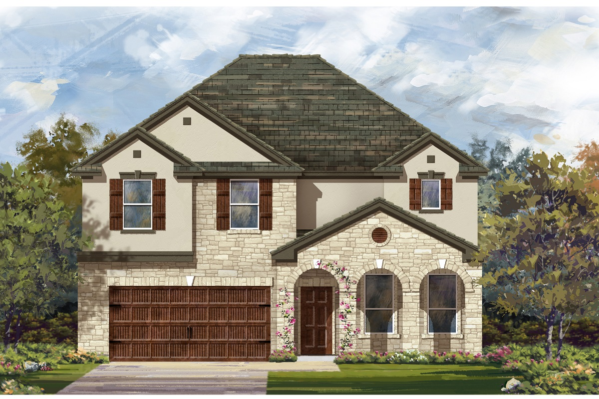 New Homes in Leander, TX - Mason Hills - The Lakes Classic Collection Plan A-3125