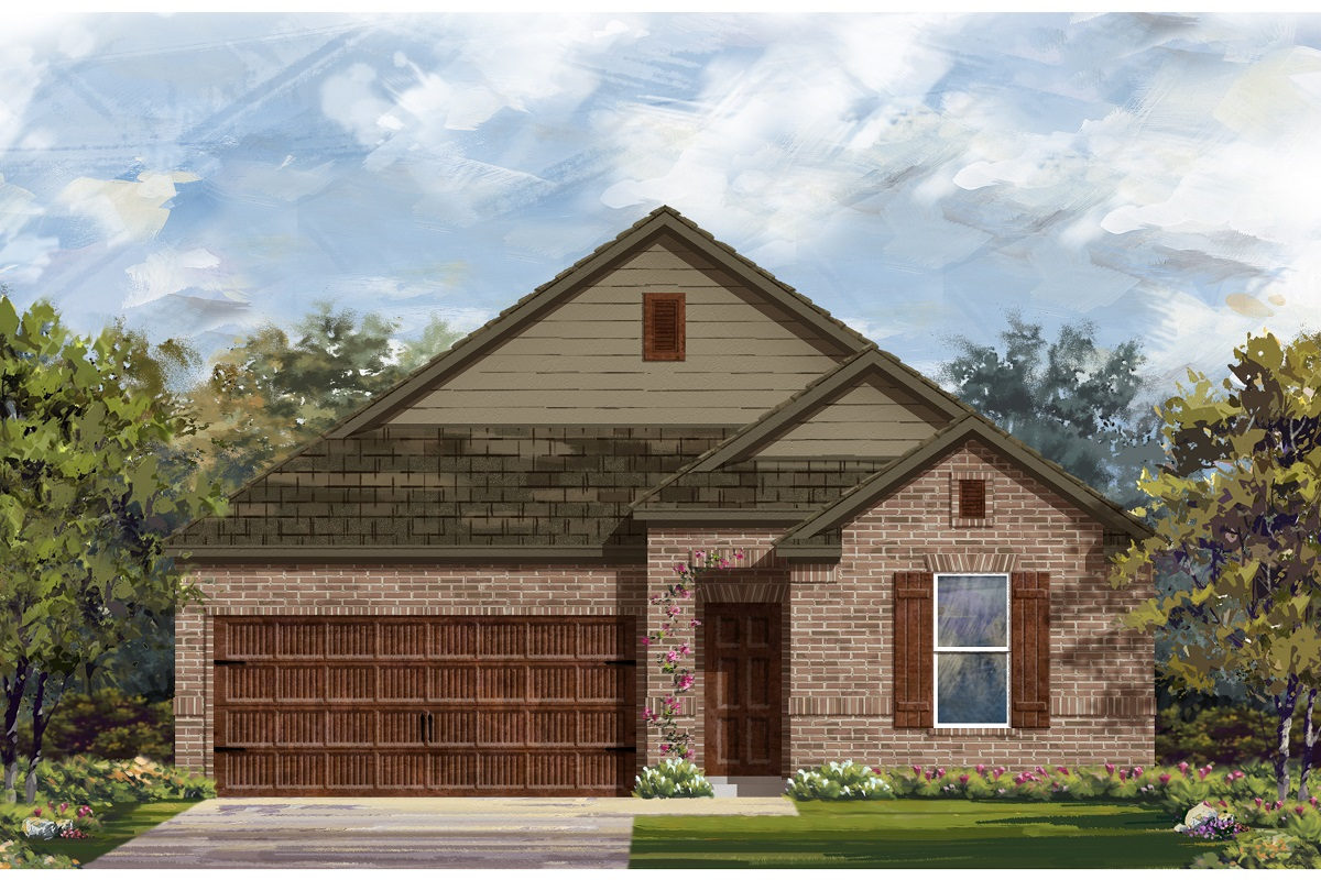 New Homes in Leander, TX - Plan A-1491 B