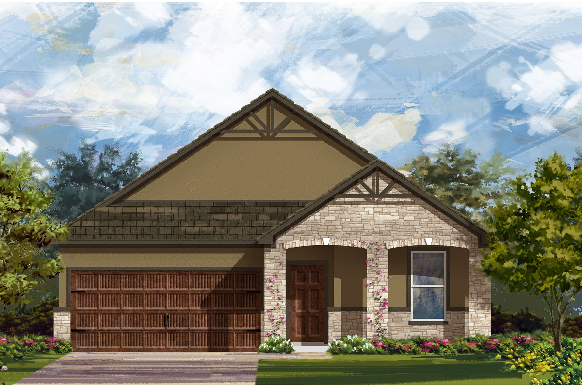 New Homes in Leander, TX - Plan A-1491 D