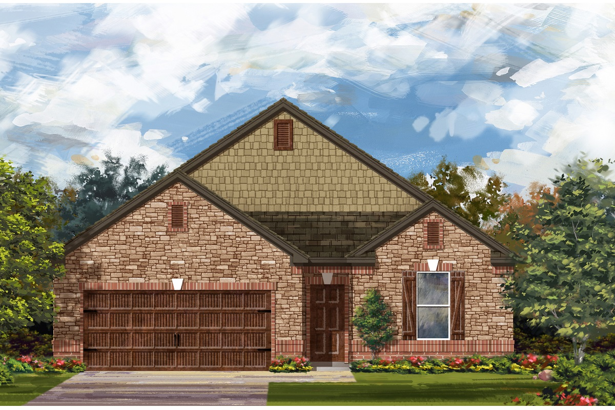 New Homes in Leander, TX - Mason Hills - The Lakes Classic Collection Plan 1965 Elevation C
