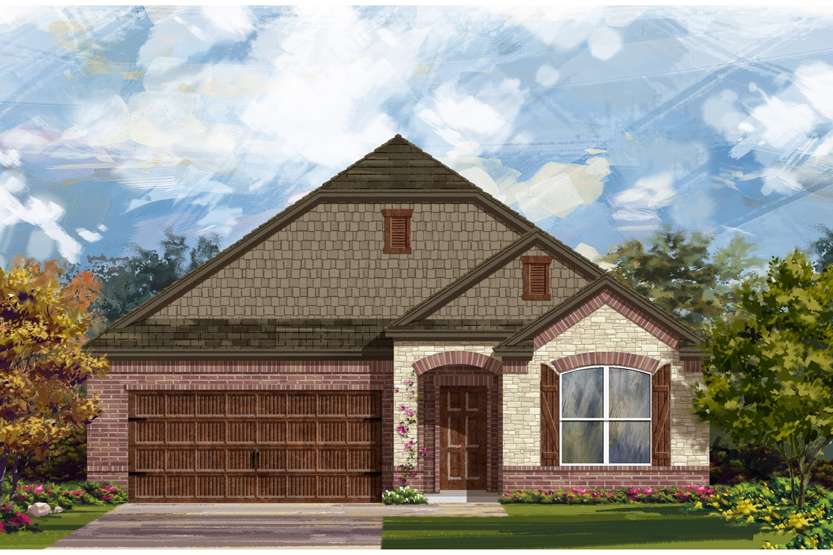 New Homes in Leander, TX - Mason Hills - The Lakes Classic Collection Plan 1996 Elevation C