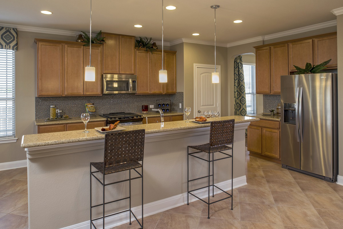New Homes in Leander, TX - Mason Hills - The Lakes Classic Collection Plan A-3023 Kitchen