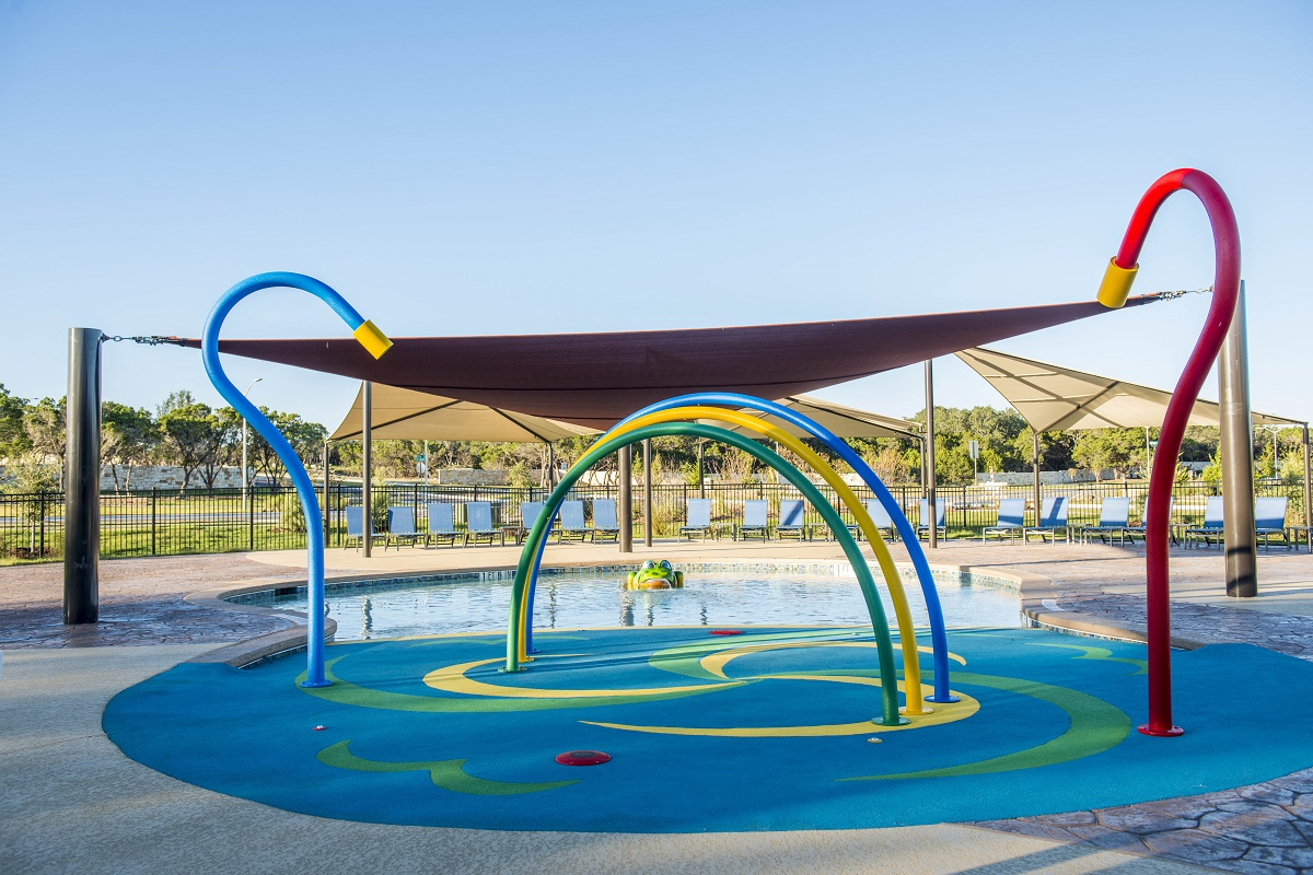New Homes in Leander, TX - Mason Hills - The Lakes Classic Collection Mason Hills Childrens' Pool and Splash Pad