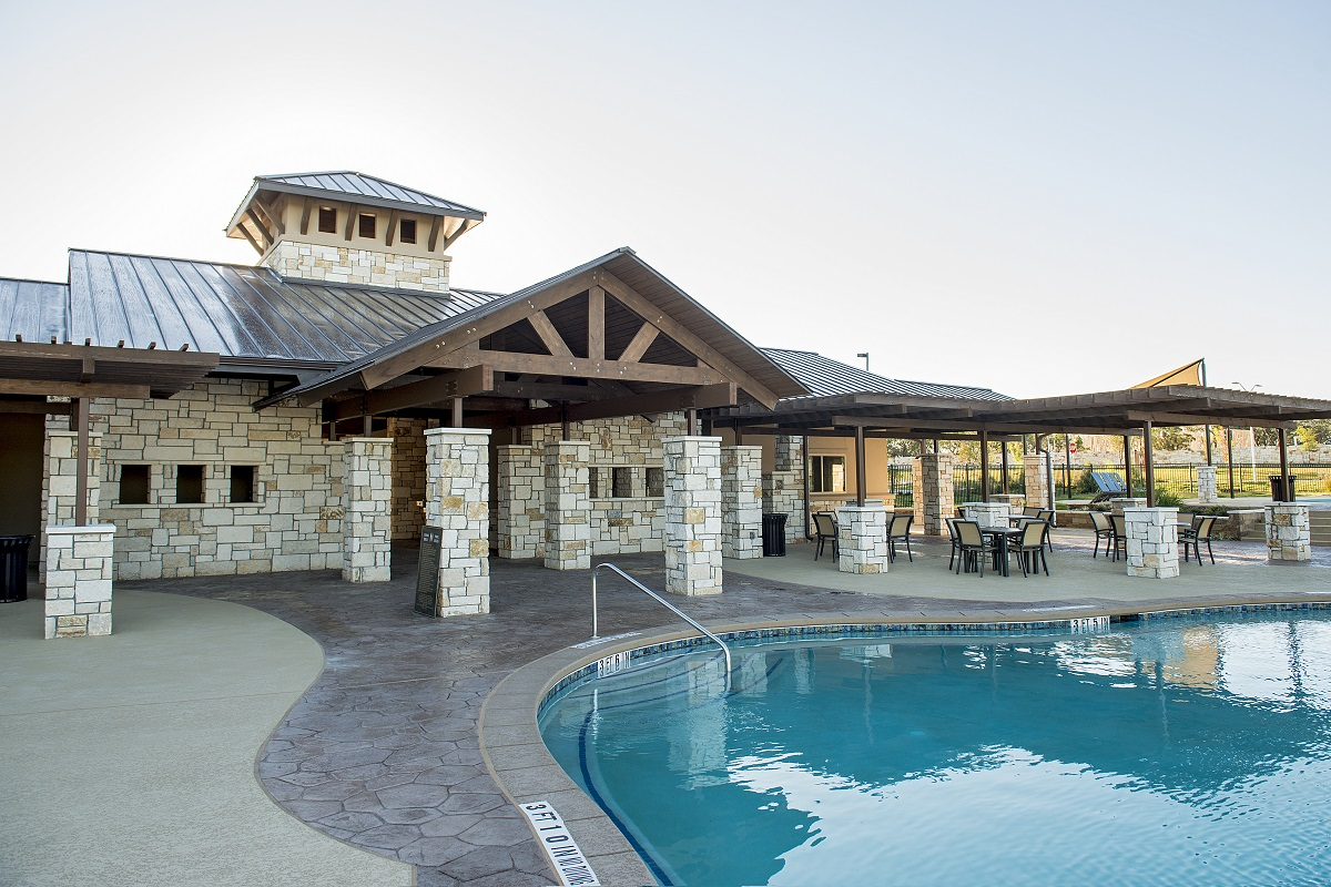 New Homes in Leander, TX - Mason Hills - The Lakes Hallmark Collection Mason Hills Community Pool