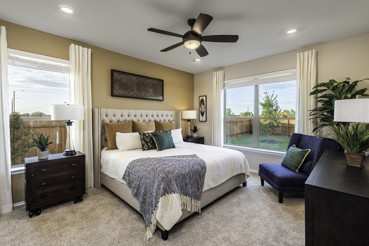 New Homes in Lockhart, TX - Meadows at Clearfork Plan A-1675 Master Bedroom