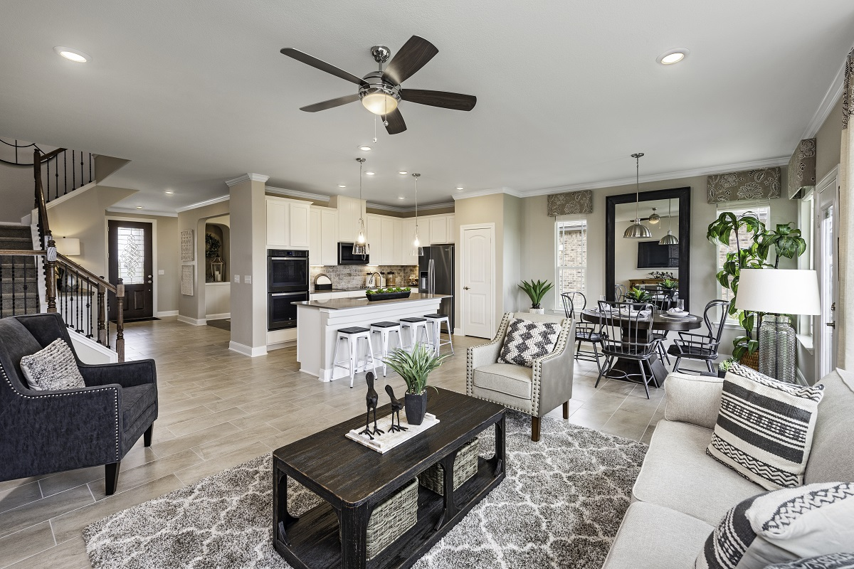 New Homes in Lockhart, TX - Meadows at Clearfork Plan A-2502 Great Room