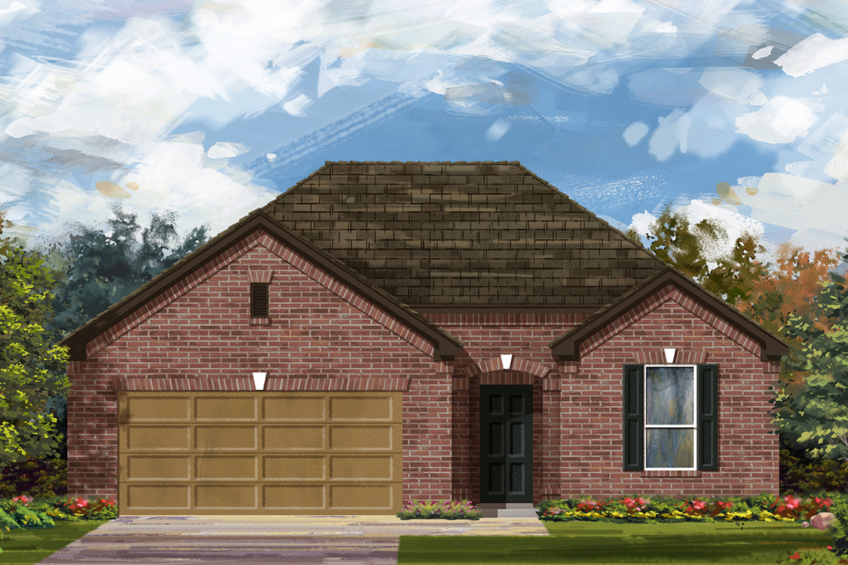 New Homes in Lockhart, TX - Plan A-1792 A