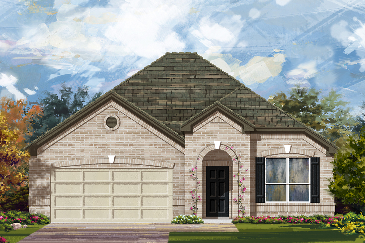 New Homes in Lockhart, TX - Plan A-1792 B